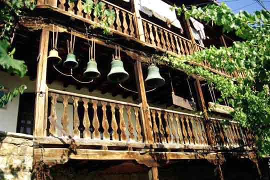 The monastery bells, gift from Russian soldiers