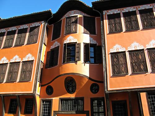 Plovdiv's symmetrical houses