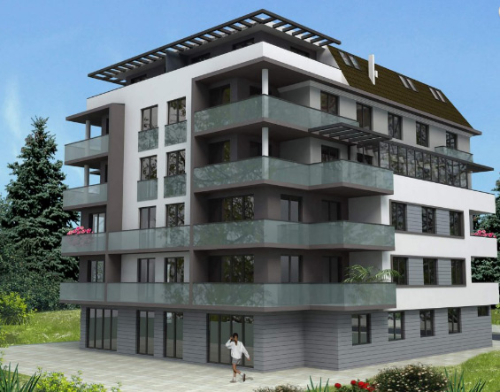 """""""Bela kasa"""" - a boutique building with an """"eternal"""" roof to be built in Veliko Tarnovo"""