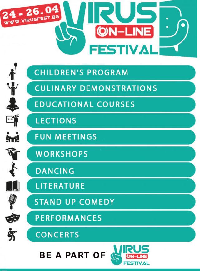 Program for online festival in Bulgaria