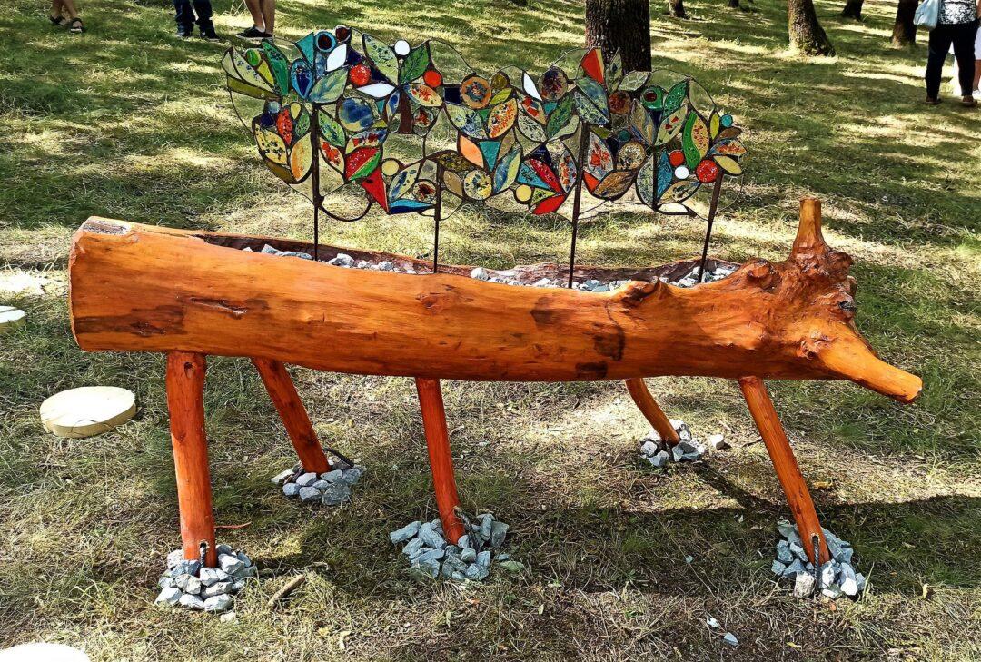 Beautiful stained glass installations in Sveta Gora Park in Veliko Tarnovo
