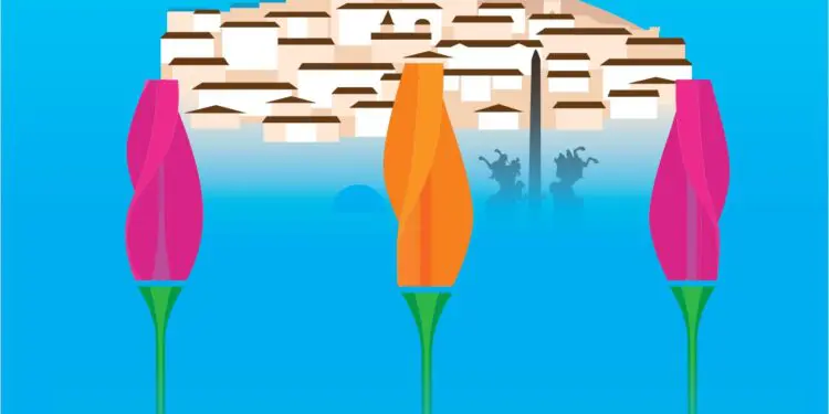 Giant glowing tulips will bloom in Veliko Tarnovo this spring