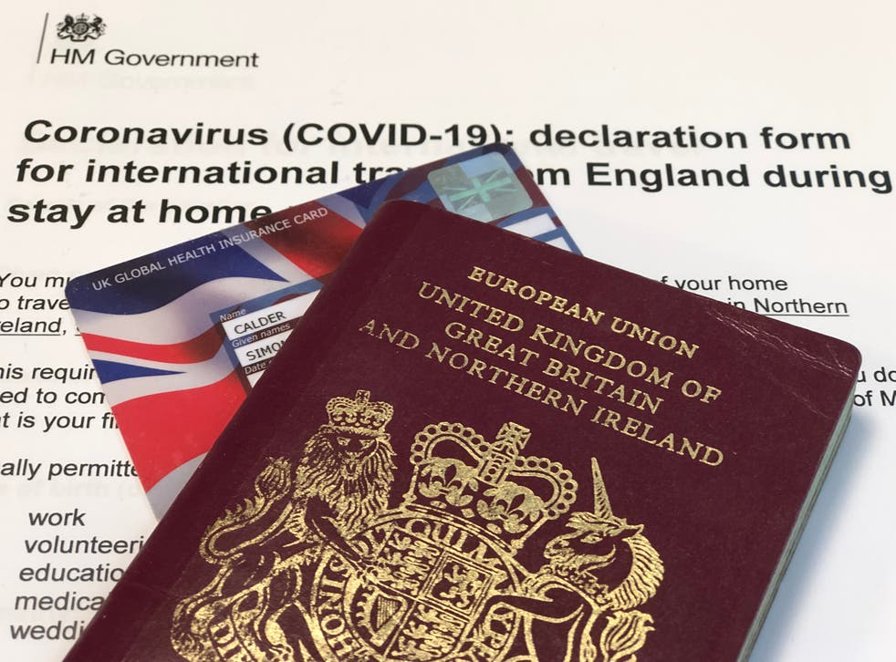Traveling abroad from the UK - declaration form and reasonable excuses to travel