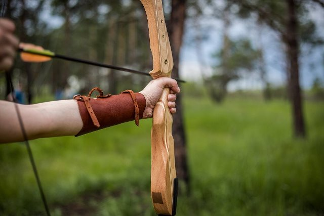 A medieval shooting range was made in Tsarevets as a tourist attraction